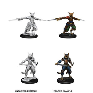 DUNGEONS AND DRAGONS: NOLZUR'S MARVELOUS UNPAINTED MINIATURES - FEMALE TABAXI ROGUE