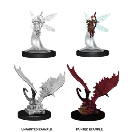 DUNGEONS AND DRAGONS: NOLZUR'S MARVELOUS UNPAINTED MINIATURES - SPRITE AND PSEUDODRAGON