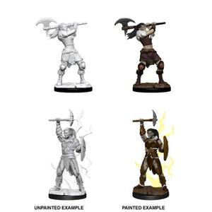 DUNGEONS AND DRAGONS: NOLZUR'S MARVELOUS UNPAINTED MINIATURES - FEMALE GOLIATH BARBARIAN