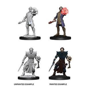 DUNGEONS AND DRAGONS: NOLZUR'S MARVELOUS UNPAINTED MINIATURES - MALE HUMAN WARLOCK