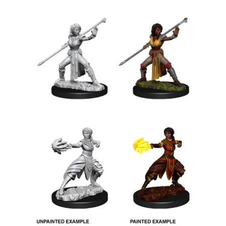 DUNGEONS AND DRAGONS: NOLZUR'S MARVELOUS UNPAINTED MINIATURES - FEMALE HALF-ELF MONK