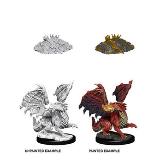 DUNGEONS AND DRAGONS: NOLZUR'S MARVELOUS UNPAINTED MINIATURES - RED DRAGON WYRMLING