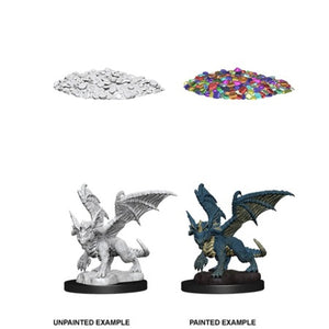 DUNGEONS AND DRAGONS: NOLZUR'S MARVELOUS UNPAINTED MINIATURES - BLUE DRAGON WYRMLING