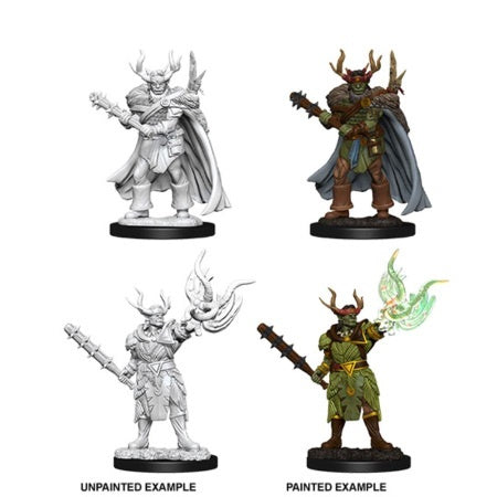 PATHFINDER: DEEP CUTS UNPAINTED MINIATURES -  MALE HALF-ORC DRUID