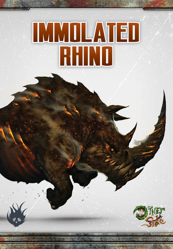 WYRD: THE OTHER SIDE - CULT OF THE BURNING MAN - IMMOLATED RHINO