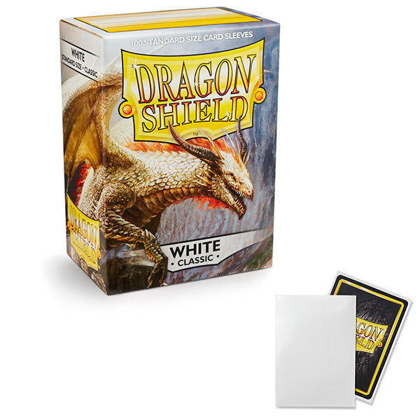 Dragon Shield Sleeves: Standard- Classic White (100 ct.)
