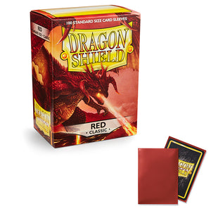 Dragon Shield Sleeves: Standard- Classic Red (100 ct.)
