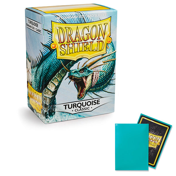 Dragon Shield Sleeves: Standard- Classic Turquoise (100 ct.)
