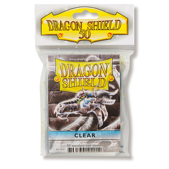 Dragon Shield Sleeves: Standard- Classic Clear (50 ct.)