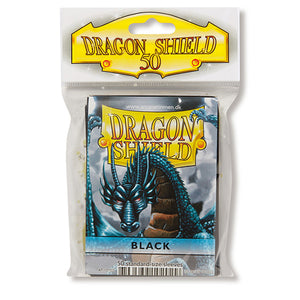 Dragon Shield Sleeves: Standard- Classic Black (50 ct.)