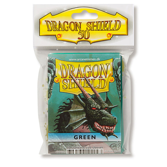 Dragon Shield Sleeves: Standard- Classic Green (50 ct.)