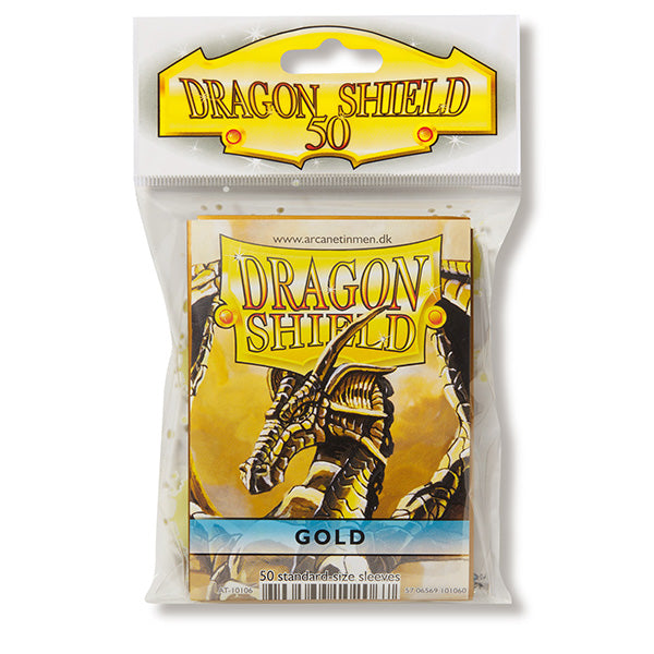 Dragon Shield Sleeves: Standard- Classic Gold (50 ct.)