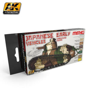 AK-Interactive: (Acrylic) MENG JAPANESE EARLY VEHICLES CAMOUFLAGE