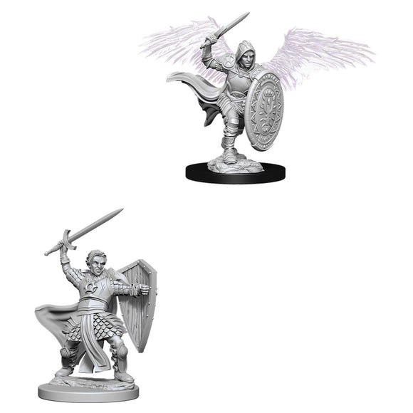 DUNGEONS AND DRAGONS: NOLZUR'S MARVELOUS UNPAINTED MINIATURES - AASIMAR MALE PALADIN