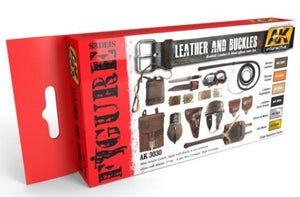 AK-Interactive: LEATHER AND BUCKLES COLORS SET