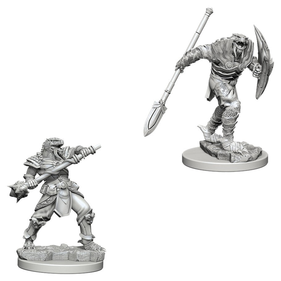 DUNGEONS AND DRAGONS: NOLZUR'S MARVELOUS UNPAINTED MINIATURES - DRAGONBORN MALE FIGHTER WITH SPEAR