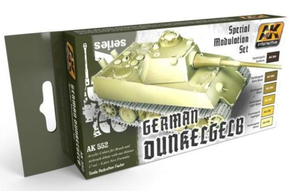 AK-Interactive: GERMAN DUNKELGELB MODULATION SET