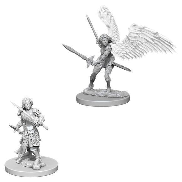 DUNGEONS AND DRAGONS: NOLZUR'S MARVELOUS UNPAINTED MINIATURES - AASIMAR FEMALE PALADIN