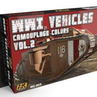 AK-Interactive: (Acrylic) MENG WWI VEHICLES CAMOUFLAGE COLORS VOL.2