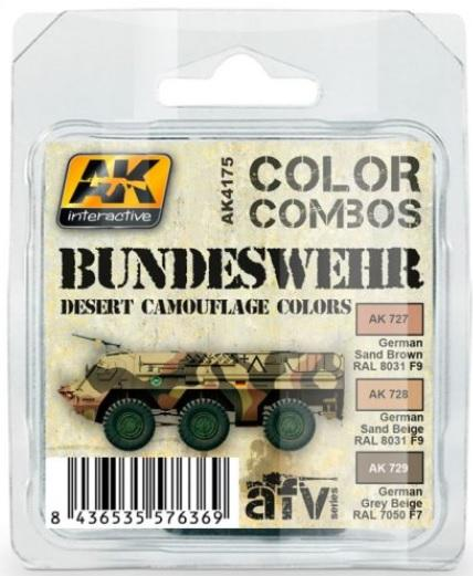 AK-Interactive: BUNDESWEHR DESERT CAMOUFLAGE COLORS COMBO SET