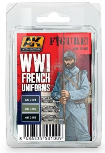 AK-Interactive: WWI FRENCH UNIFORMS COLORS SET