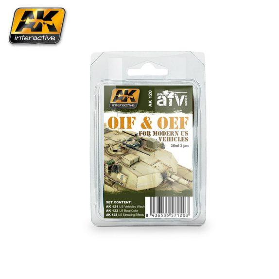 AK-Interactive: (Weathering) OIF & OEF - US VEHICLES WEATHERING SET