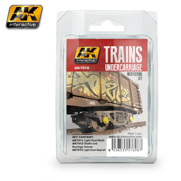 AK-Interactive: (Weathering) TRAINS UNDERCARRIAGE