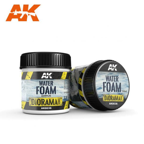 AK-Interactive: (Texture) WATER FOAM - 100ml (Acrylic)