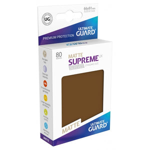 Supreme UX Sleeves Standard Size (80) Matte Brown