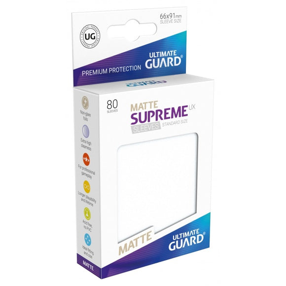 Supreme UX Sleeves Standard Size (80) Matte Frosted