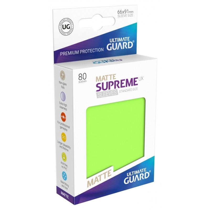Supreme UX Sleeves Standard Size (80) Matte Light Green