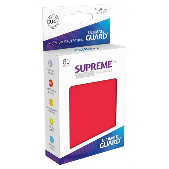 Supreme UX Sleeves Standard Size (80) Red
