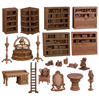 Mantic Terrain Crate: Wizard's Study 20 Piece Set
