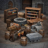 Mantic Terrain Crate: Dungeon Essentials 32 Piece Set