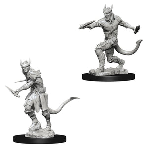 DUNGEONS AND DRAGONS: NOLZUR'S MARVELOUS UNPAINTED MINIATURES - TIEFLING MALE ROGUE