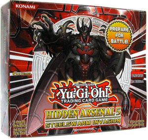 YuGiOh Trading Card Game Hidden Arsenal 5: Steelswarm Invasion Booster Box [24 Packs]