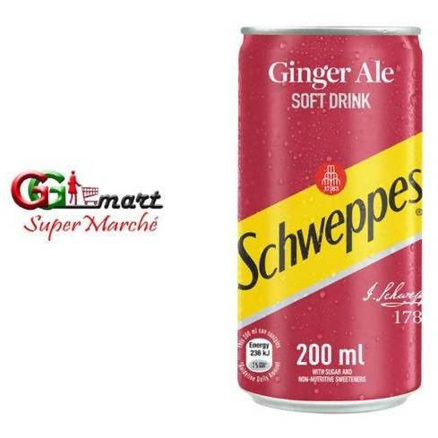 200ML SCHWEPPES GINGER ALE SOFT DRINK - AfriMarket