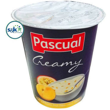 YAHOO PASCUAL CREAMY PEACH&PASSION FRUIT FLAVOR 125GM