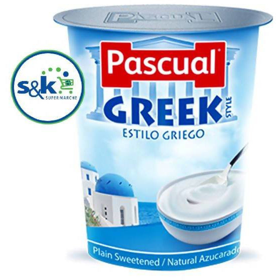 YAHOO PASCUAL GREEK PLAIN SWEETENED 125GM