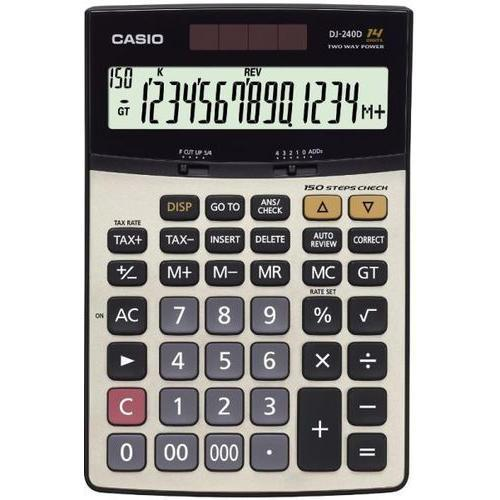 Calculatrice Scientifique Casio Dj 240d 14 Chiffres - AfriMarket