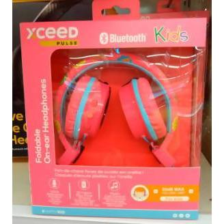 HEADPHONES BT KIDS XCEED PULSE PINK - AfriMarket