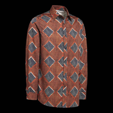 Chemise Africaine AFFASO Diamond Rust