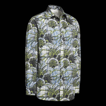 Chemise Africaine AFFASO Jungle Leafs green