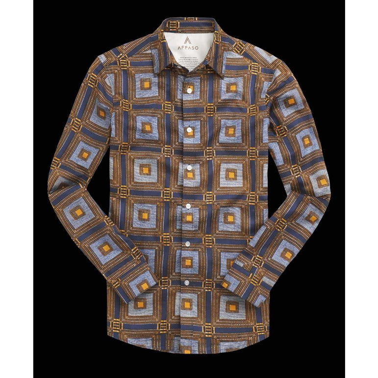 Chemise Africaine AFFASO Royal Window Pane