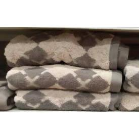 BATH TOWEL ARGYLE ESSENTIELS GREY 70*130 - AfriMarket