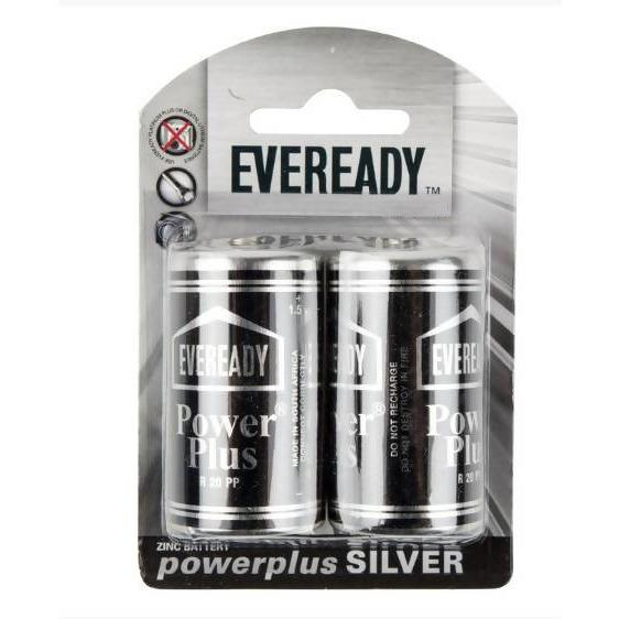 EVEREADY BATTERY R20PP D CELL 2 PACK - AfriMarket