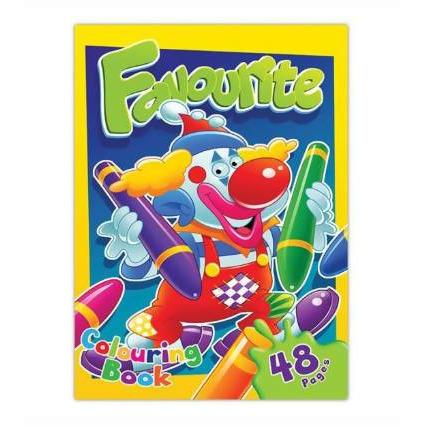 COLOURING BOOK FAVOURITE 48 PAGES - AfriMarket