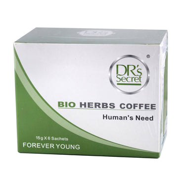 DR'S SECRET BIO HERBS COFFEE 15G X 6 SACHETS