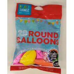 Balloons round squeekers 20 pce - AfriMarket