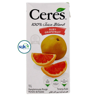 JUS CERES RUBY GRAPE FRUIT PQT 1LTR